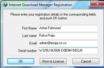 internet download manager keys registration