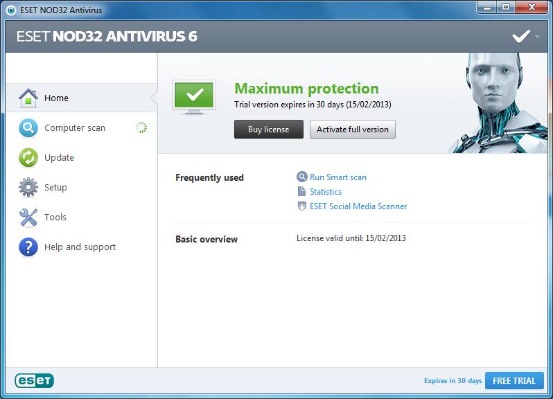 eset nod32 antivirus 8 activator for free