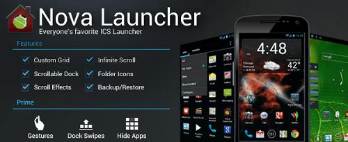 Nova Launcher Prime Apk v4.0.2 for free download now