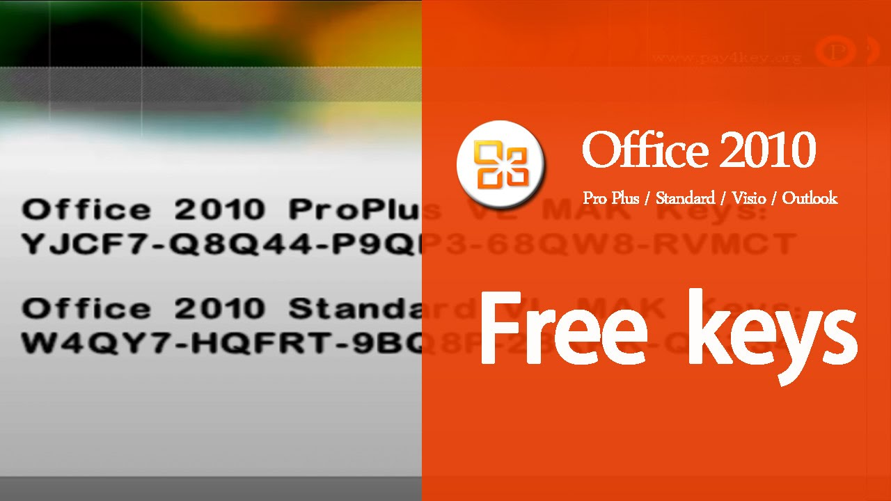 Microsoft Office 2010 Product Key (100% Working) Updated ...